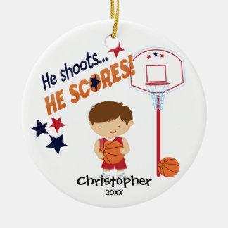 Cute Basketball Player Sport Christmas Ornament