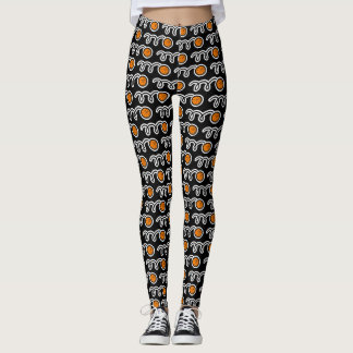 Cute basketball sports pattern athleisure leggings