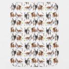 Cute Basset Hound Dogs Baby Blanket