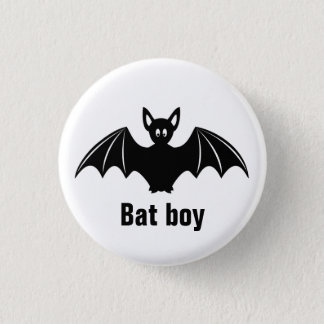Cute bat cartoon pun joke button