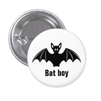 Cute bat cartoon pun joke button