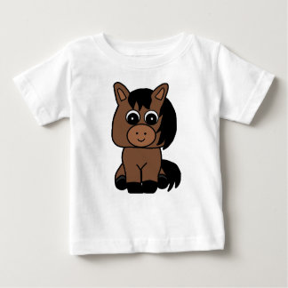 Cute Bay Horse Baby T-Shirt
