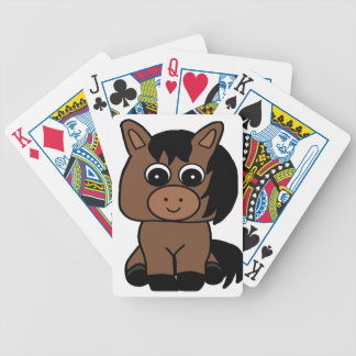 Cute Bay Horse Bicycle Playing Cards