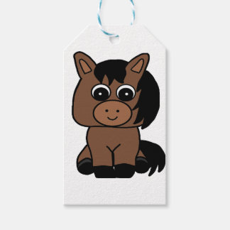 Cute Bay Horse Gift Tags