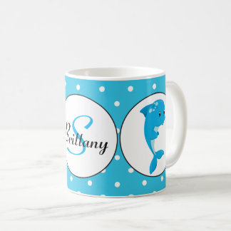 Cute Beach dolphin customizable coffee mug