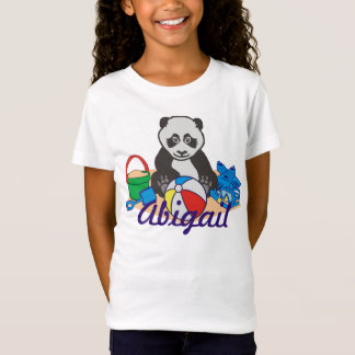 Cute Beach Panda Bear T-Shirt