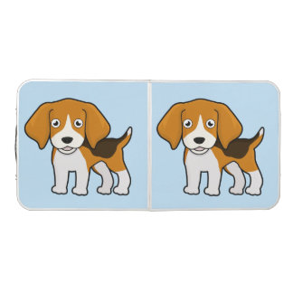 Cute Beagle Beer Pong Table