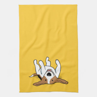 Cute Beagle Cartoon Dog Kitchen Towel