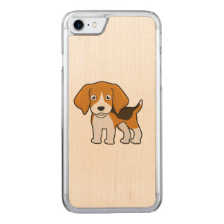 Cute Beagle Carved iPhone 7 Case