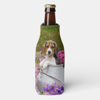 Cute Beagle Dog Puppy in Milk Churn  Bottle-Jacket