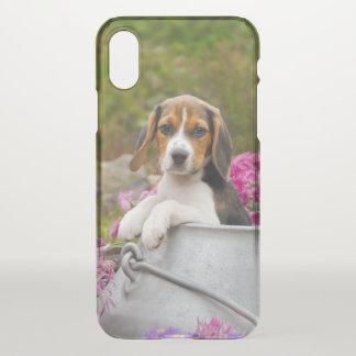 Cute Beagle Dog Puppy in Milk Churn Pet Photo ** iPhone X Case