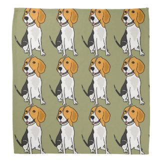 Cute Beagle Hound Dog Bandana