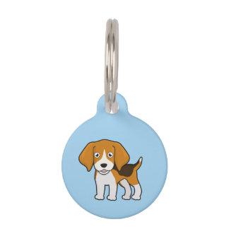 Cute Beagle Pet ID Tag
