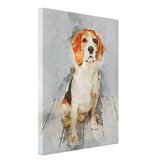 Cute Beagle Portrait Canvas Print