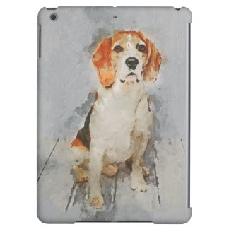 Cute Beagle Portrait Case For iPad Air