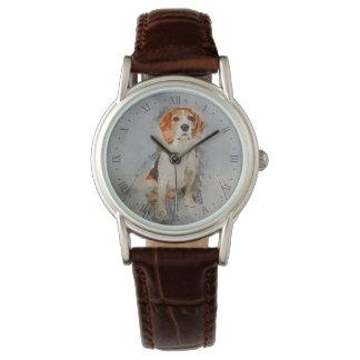 Cute Beagle Portrait Watch