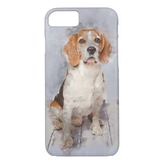 Cute Beagle Watercolor Portrait iPhone 8/7 Case