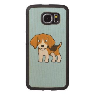 Cute Beagle Wood Phone Case