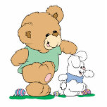 Cute Bear and Easter Bunny Photo Sculptures