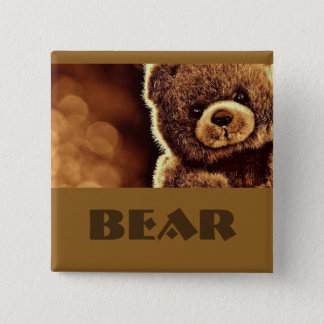 Cute Bear badge / 2 Inch Square Button