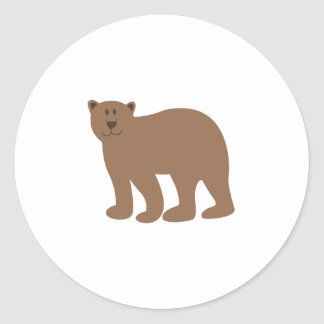 Cute Bear Classic Round Sticker