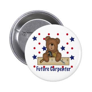 Cute Bear Future Carpenter Pinback Buttons