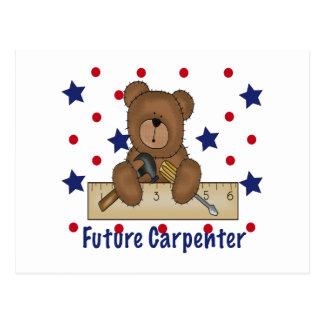 Cute Bear Future Carpenter Postcard