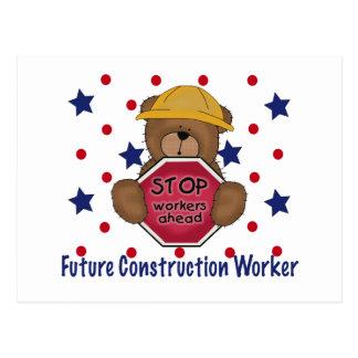Cute Bear Future Construction Worker Postcard