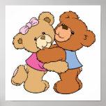 Cute Bear Hug Bears Posters