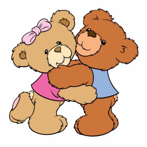 Cute Bear Hug Bears Standing Photo Sculpture