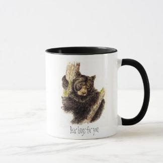 Cute, Bear Hugs for you, Black Bear Mug