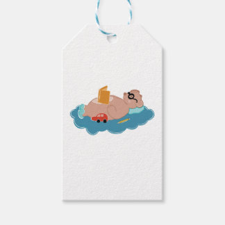Cute bear reading book gift tags