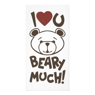 Cute Bear Valentine Photo Card