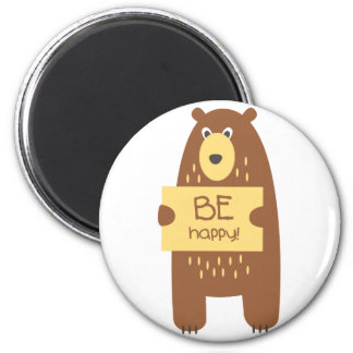 Cute bear with a sign for text magnet