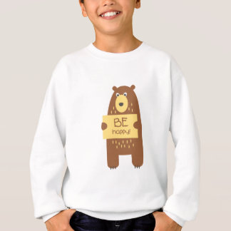 Cute bear with a sign for text sweatshirt