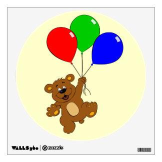 Cute bear with balloons cartoon wall decall wall sticker