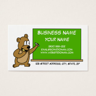 Cute Bear with Cookie School Business Card