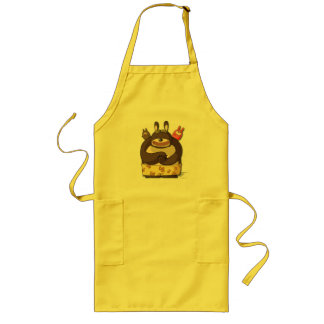Cute Bears Funny Cartoon Characters Kawaii Apron