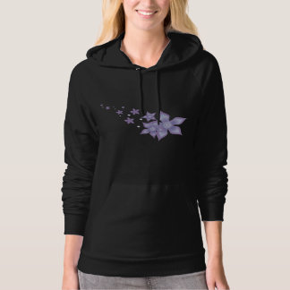 Cute Beautiful Purple Star Flower -  Hoodies