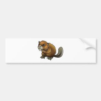 Cute Beaver Bumper Sticker