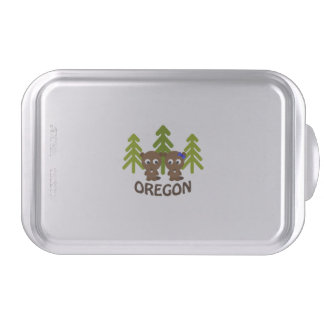 Cute Beaver Couple Oregon Baking Tin