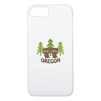 Cute Beaver Couple Oregon iPhone 7 Case