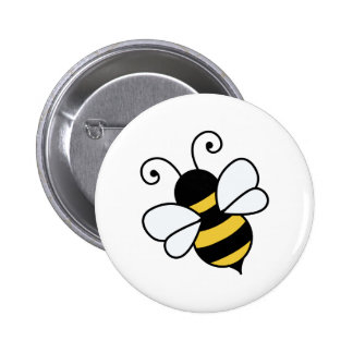 Cute bee 2 inch round button