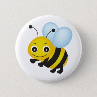 Cute bee design 2 inch round button