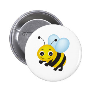 Cute bee design 2 inch round button