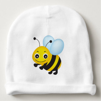 Cute bee design baby beanie