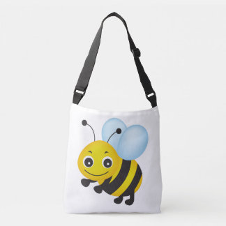 Cute bee design crossbody bag