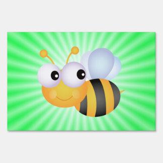 Cute Bee; Green Sign
