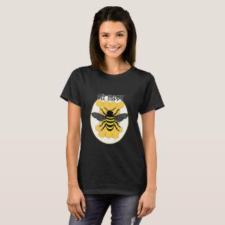 Cute Bee Happy Fun Honeycomb Bumble Bee Graphic T-Shirt