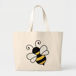 Cute bee large tote bag